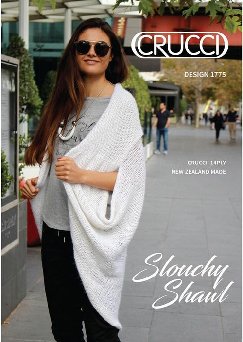 Crucci Knitting Pattern 1775 Aquarius Slouchy Shawl Coat - Digital