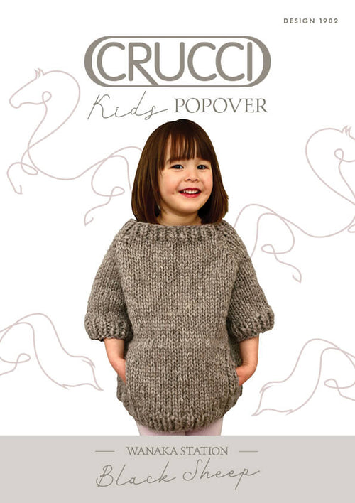 Crucci Knitting Pattern 1902 Kids Popover