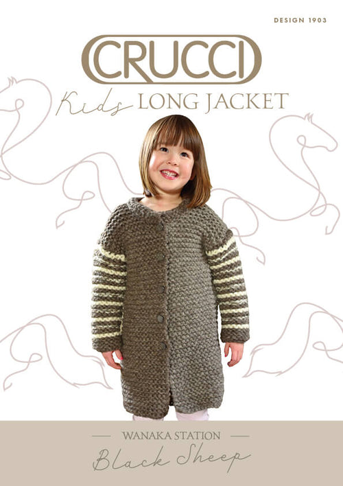 Crucci Knitting Pattern 1903 Kids Long Jacket