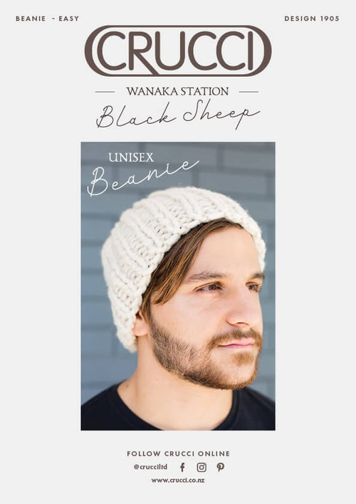 Crucci Knitting Pattern 1905 Unisex Beanie - Digital