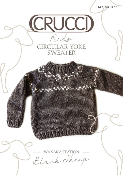 Crucci Knitting Pattern 1906 Kids Circular Yoke Sweater