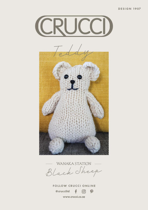 Crucci Knitting Pattern 1907 Teddy Bear
