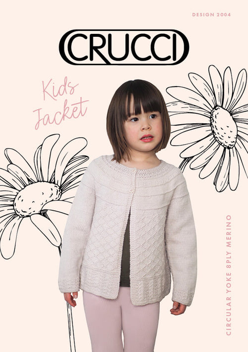 Crucci Knitting Pattern 2004 Kids Jacket