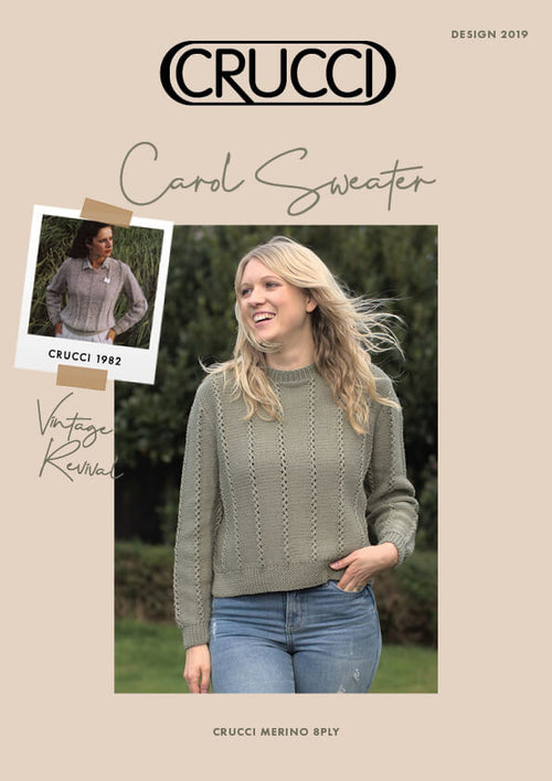 Crucci Knitting Pattern 2019 Carol Sweater