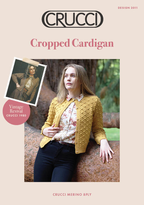 Crucci Knitting Pattern 2011 Short Patterned Cardigan