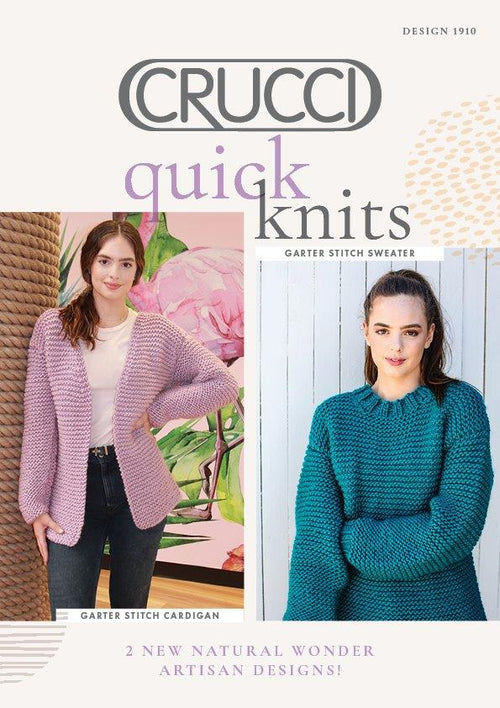Crucci Knitting Pattern 1910 Artisan Quick Knits - Digital