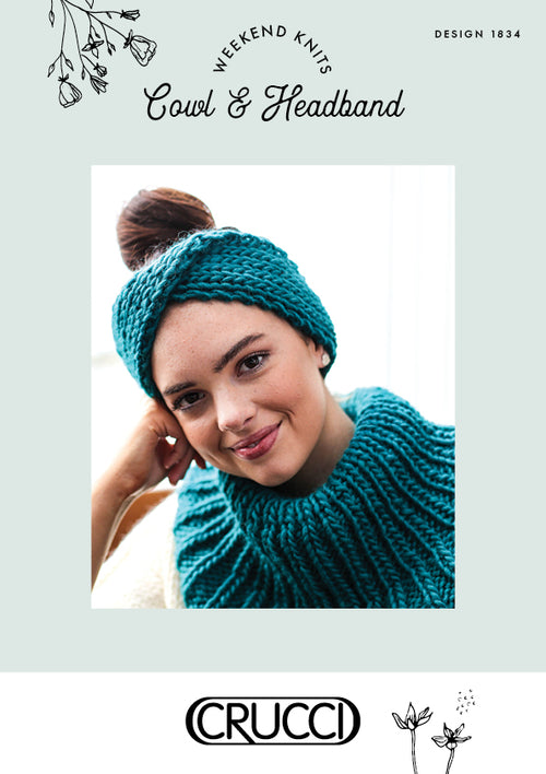 Crucci Knitting Pattern 1834 Cowl and Headband - Digital