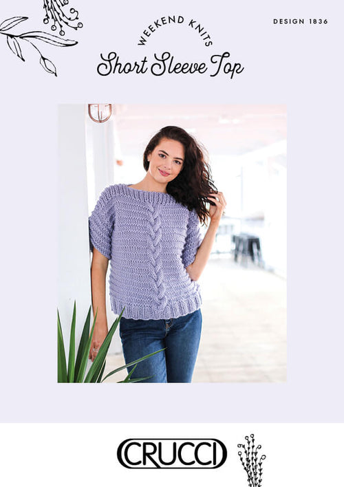 Crucci Knitting Pattern 1836 Short Sleeve Top - Digital