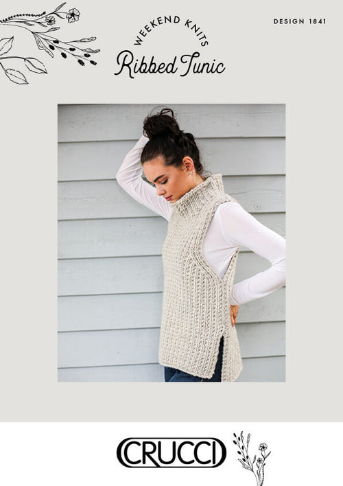 Crucci Knitting Pattern 1841 Ribbed Tunic - Digital