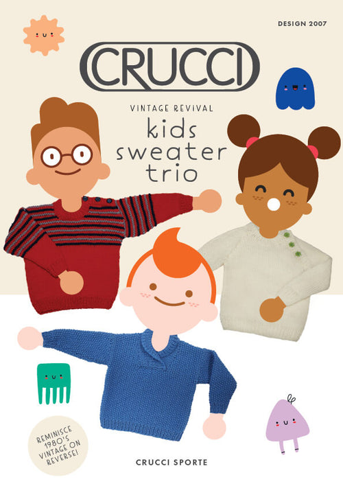 Crucci Knitting Pattern 2007 Kids Sweater Trio - Digital