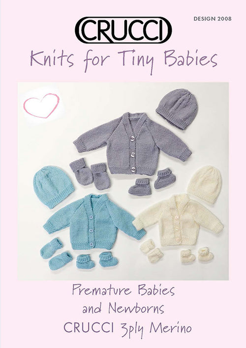 Crucci Knitting Pattern 2008 Tiny Babies Knits