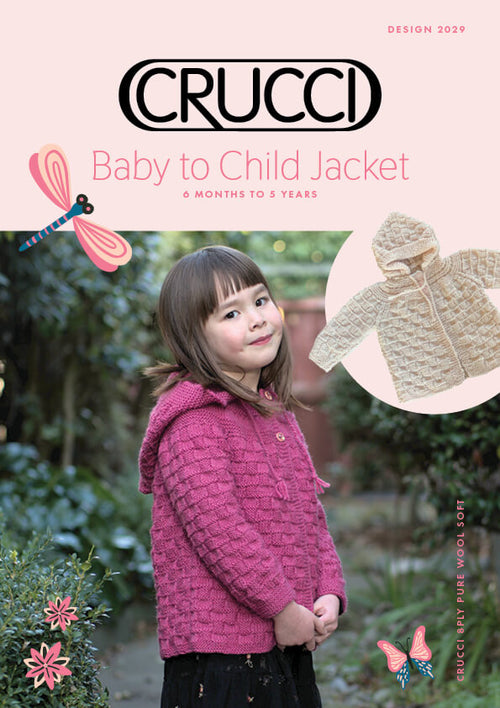 Crucci Knitting Pattern 2029 Baby to Child Jacket