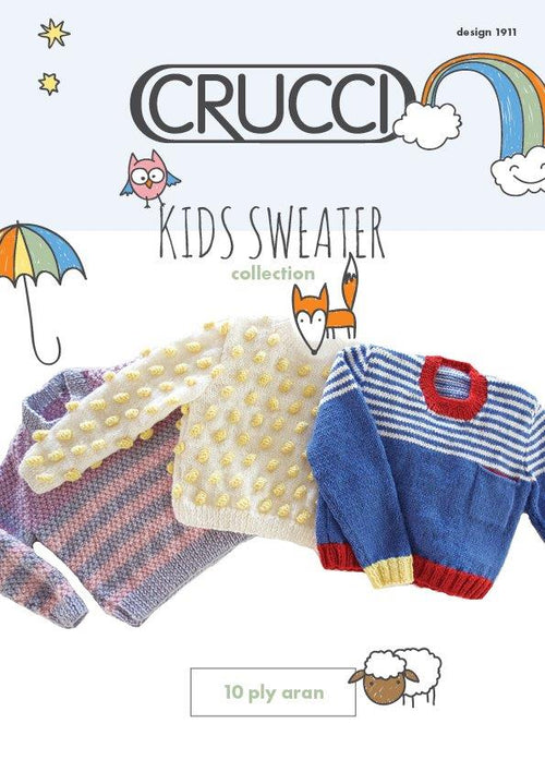 Crucci Knitting Pattern 1911 Kids Sweater Collection
