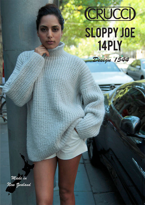 Crucci Pattern 1544 Sloppy Joe Oversized Jumper - Digital