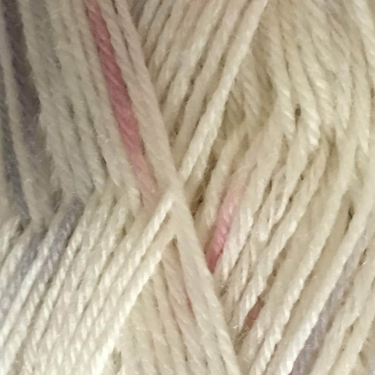 Woolly Jack and Jill 4ply Wool 151 White Pink