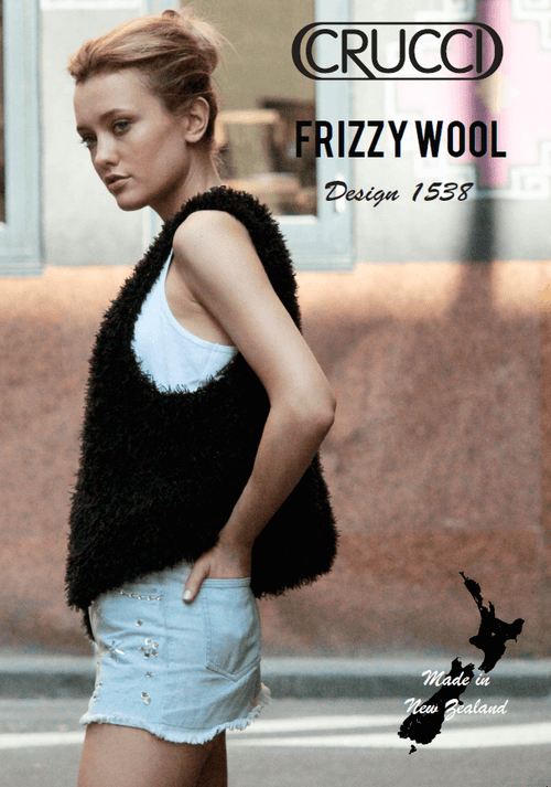 Crucci Knitting Pattern 1538 Frizzy Wool Vest