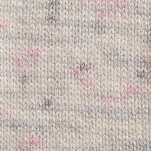 Woolly Jack and Jill 4ply 137* White Grey Pink