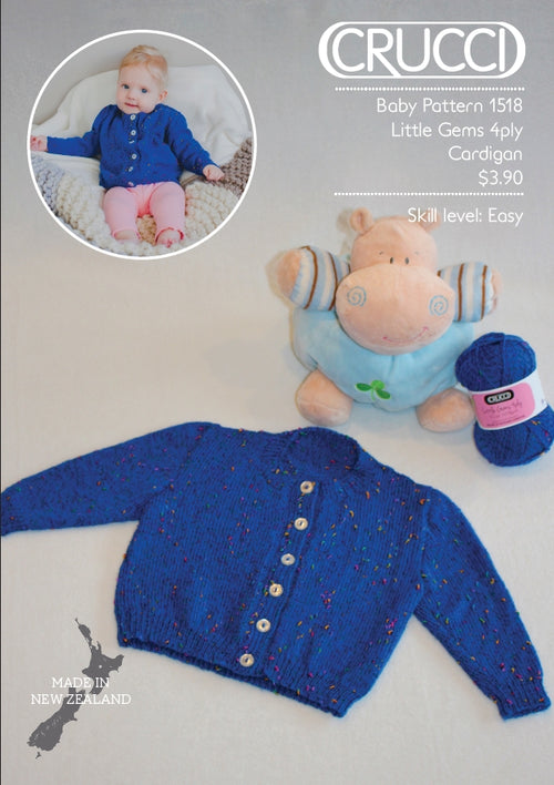 Crucci Pattern 1518 Little Gems Cardigan