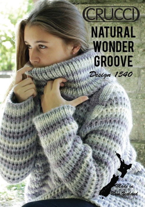 Crucci Pattern 1540 Cowl neck Jumper