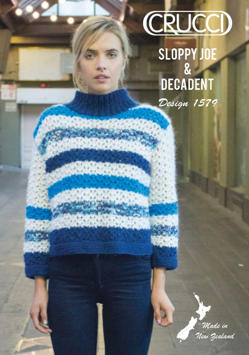 Crucci Pattern 1579 Mesh Sweater