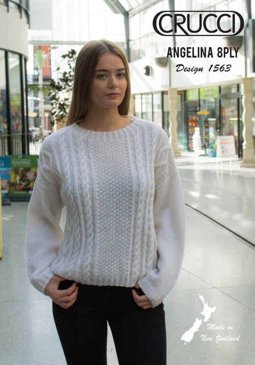 Crucci Pattern 1563 Angelina Aran Sweater
