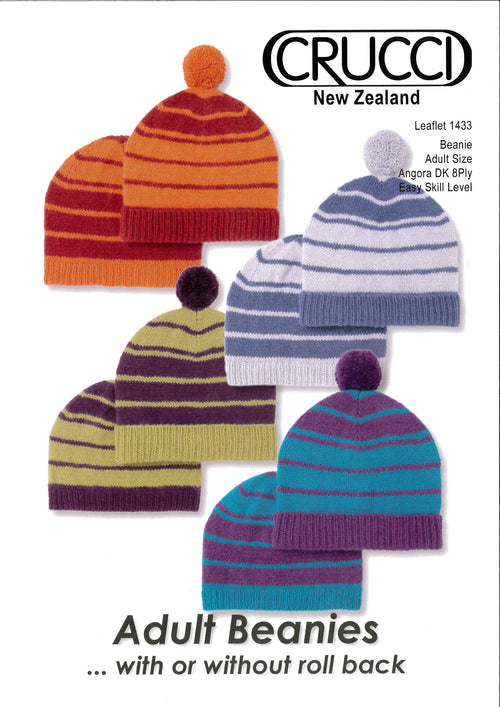 Crucci Pattern 1433 Adult Beanie - Digital