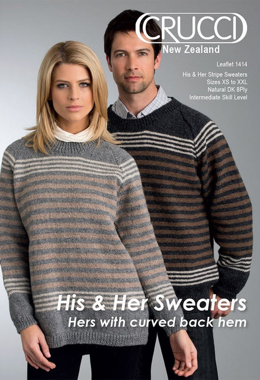 f7aed5d944922d Crucci Knitting Pattern 1414 - Stripe Sweater