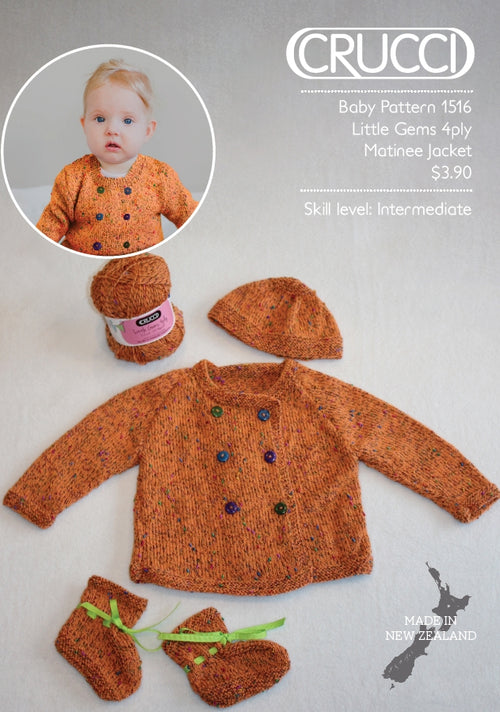Crucci Pattern 1516 Little Gems Matinee Jacket