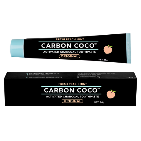 Activated Charcoal Toothpaste Peach Mint Duo Pack - LIMITED TIME ONLY