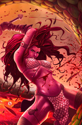 Invincible Red Sonja #1 Trinity Comics Exclusive by Inaki Miranda (Co-Creator of We Live)