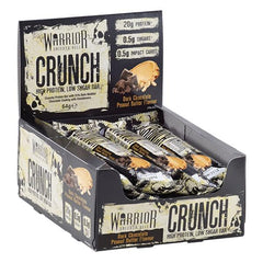 Warrior Crunch Bar, White Chocolate Crisp - 12 bars
