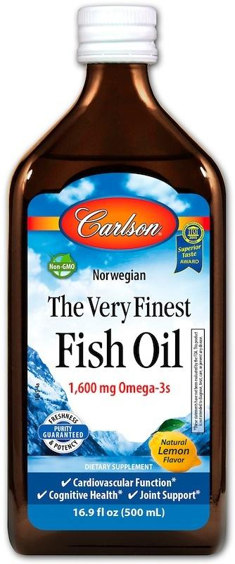 Carlson Labs The Very Finest Fish Oil, Natural Orange - 500 ml.