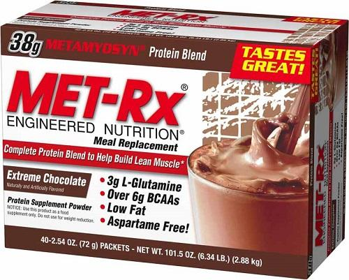 MET-Rx Original Meal Replacement, Extreme Chocolate - 40 packets