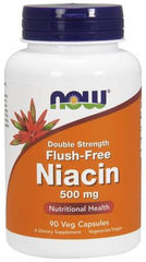 NOW Foods Niacin Flush-Free, 500mg (Double Strength) - 90 vcaps