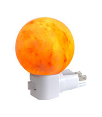 Plug In Sphere Crystal Salt Light