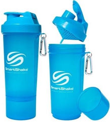SmartShake Slim, Neon Blue - 500 ml.