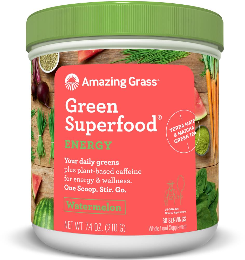 Amazing Grass Green SuperFood Energy Watermelon 210g