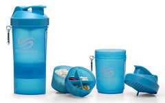 SmartShake Original Series Shaker, Neon Series Blue - 600 ml.