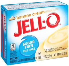 Jell-O Instant Pudding & Pie Filling Sugar Free, Banana Cream - 25 grams