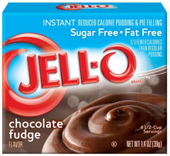 Jell-O Instant Pudding & Pie Filling Sugar Free, Chocolate Fudge - 39 grams