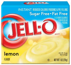 Jell-O Instant Pudding & Pie Filling Sugar Free, Lemon - 28 grams