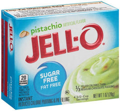 Jell-O Instant Pudding & Pie Filling Sugar Free, Pistachio - 28 grams