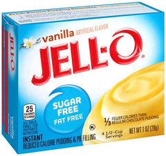 Jell-O Instant Pudding & Pie Filling Sugar Free, Vanilla - 28 grams
