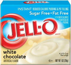 Jell-O Instant Pudding & Pie Filling Sugar Free, White Chocolate - 28 grams