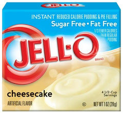 Jell-O Instant Pudding & Pie Filling Sugar Free, Cheesecake - 28 grams