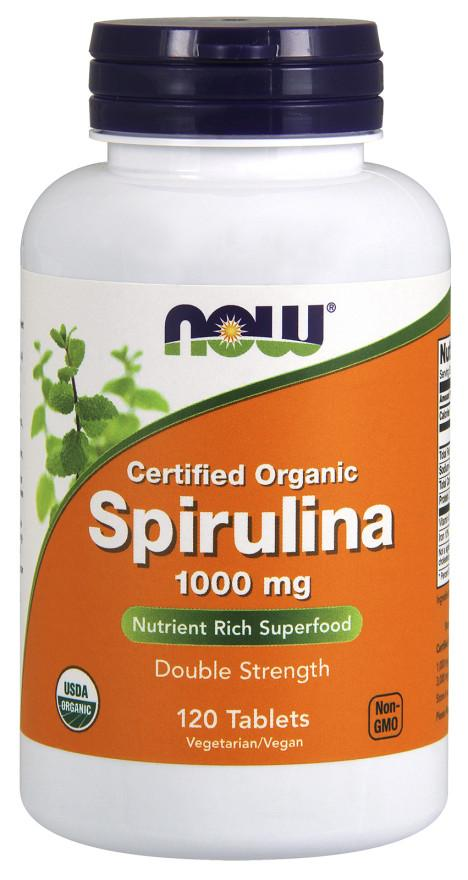 NOW Foods Spirulina Organic, 1000mg - 120 tablets