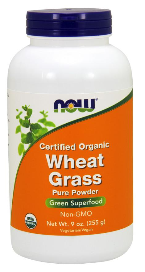 NOW Foods Wheat Grass, Pure Powder - 255 grams