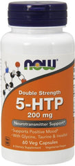 NOW Foods 5-HTP with Glycine Taurine & Inositol, 200mg - 60 vcaps