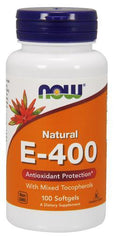 NOW Foods Vitamin E-400 - Natural (Mixed Tocopherols) - 100 softgels