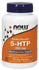 NOW Foods 5-HTP with Glycine Taurine & Inositol, 200mg - 120 vcaps